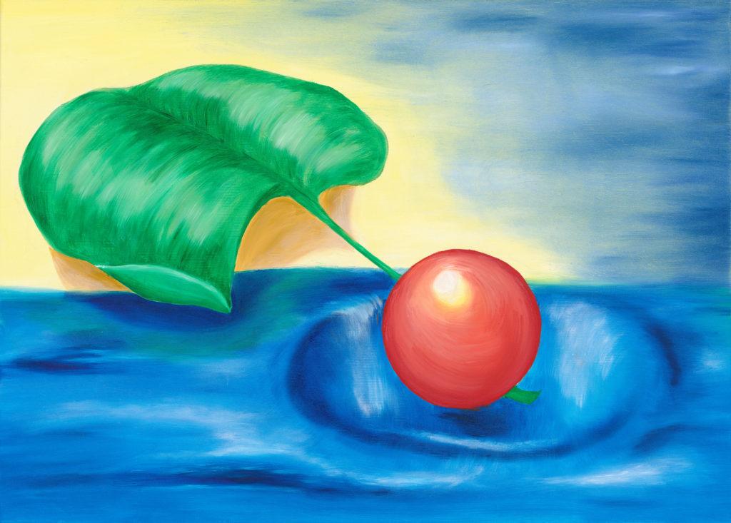 der Apfel im Meer