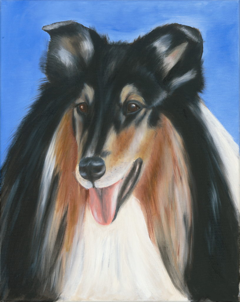 Hunde surrealistisch, Hunde in Farbe